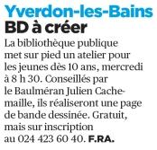 Workshop BD Bibliothèque Publique d'Yverdon-les-Bains